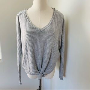 Heather Gray Knot Wild Fable Sweater